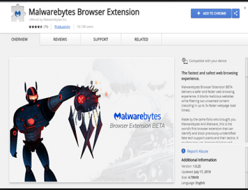 Malwarebytes Browser extension protège votre navigation.