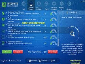Incognito Private Shield, Software potentially superfluous - Zone