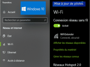 windows 10 mise à jour pilote wifi