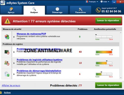 mBytes System Care, Logiciel Potentiellement Superflu.