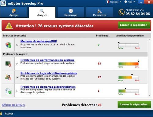 mBytes Speedup Pro, Logiciel Potentiellement Superflu.