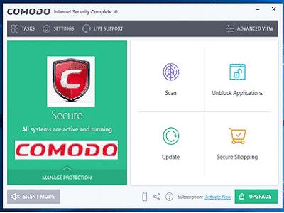 Téléchargez Comodo Internet Security Pro