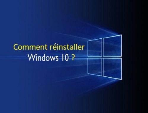 Les différentes options pour réinstaller Windows 10.