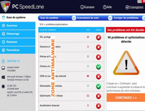 SpeedLane, Logiciel Potentiellement Superflu.