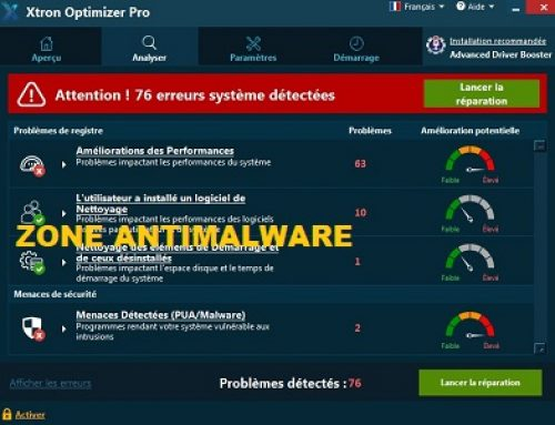 Xtron Optimizer Pro, Logiciel Potentiellement Superflu.