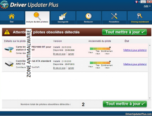 Driver Updater Plus, Software potentially superfluous.