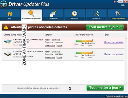 Driver Updater Plus, Logiciel Potentiellement Superflu.