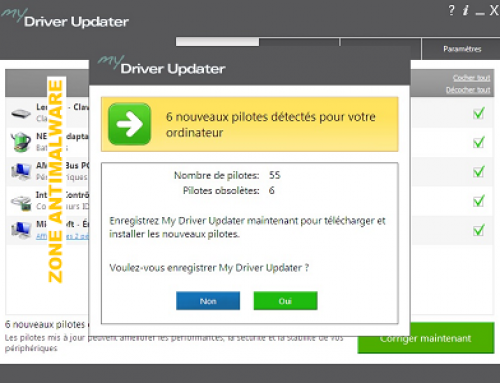 My Driver Updater, Software potentially superfluous.