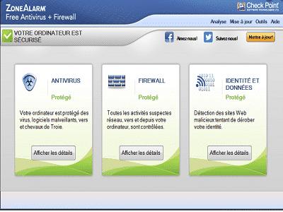 Téléchargez Zone Alarm Free Antivirus (Gratuit)