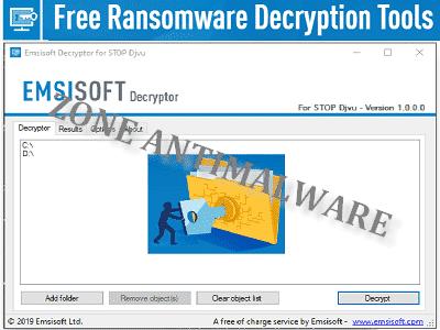 EmsisoftDecryptor ZAM - Téléchargez Emsisoft Decryptor STOP (Djvu) (Gratuit)
