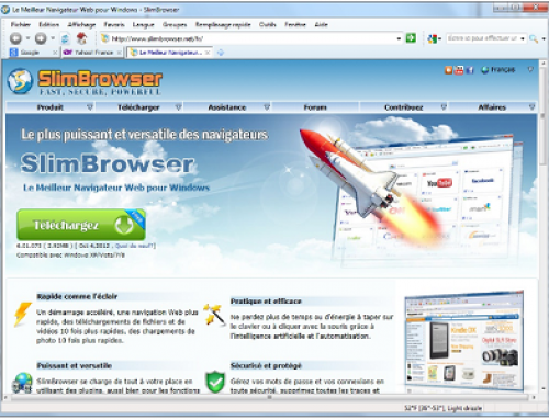 Slimbrowser, Free internet browser.
