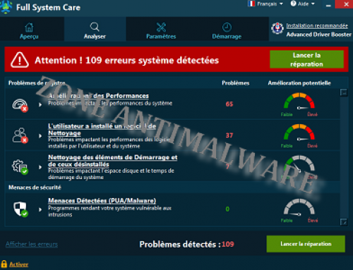 Full System Care, Logiciel Potentiellement Superflu.