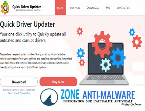 Quick Driver Updater, Logiciel Potentiellement Superflu