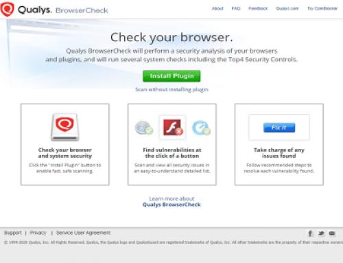 Qualys BrowserCheck, Plugin Navigateur