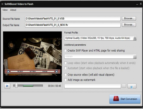 S4B Video to Flash, Logiciel Multimédia