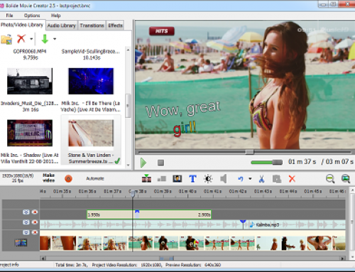 Bolide Movie Creator, Logiciel de montage Vidéo