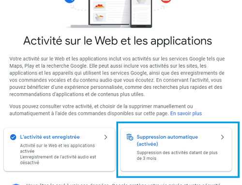 How to clear your Google account's activity tracking ?