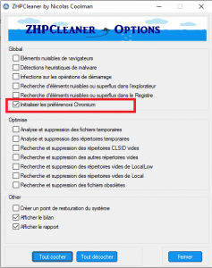 ZHPCLeaner Options