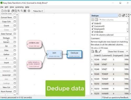 Easy Data Transform, Gestion de données