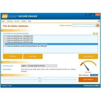 Télécharger ASComp Secure Eraser (Gratuit)