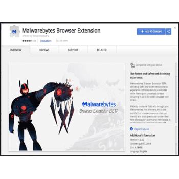 Téléchargez Malwarebytes Browser extension