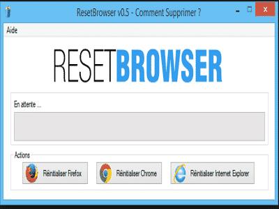Téléchargez ResetBrowser (Gratuit)